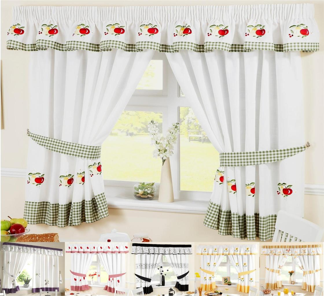 Kitchen window curtains treatments
