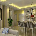 Desain Wallpaper Ruang Makan Keluarga