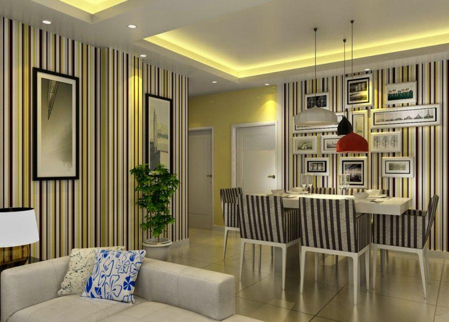 wallpaper ruang makan wallpaper solusi praktis menata ruang makan