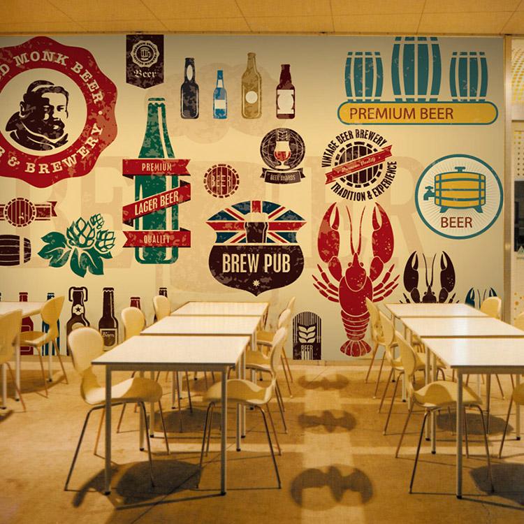 Desain Cafe Yang Keren Dengan Wallpaper Dinding Nirwana