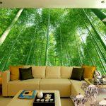 Wallpaper Dinding Ruang Tamu Motif Hutan Bambu