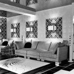 Motif Wallpaper Hitam Putih Untuk Ruang Tamu