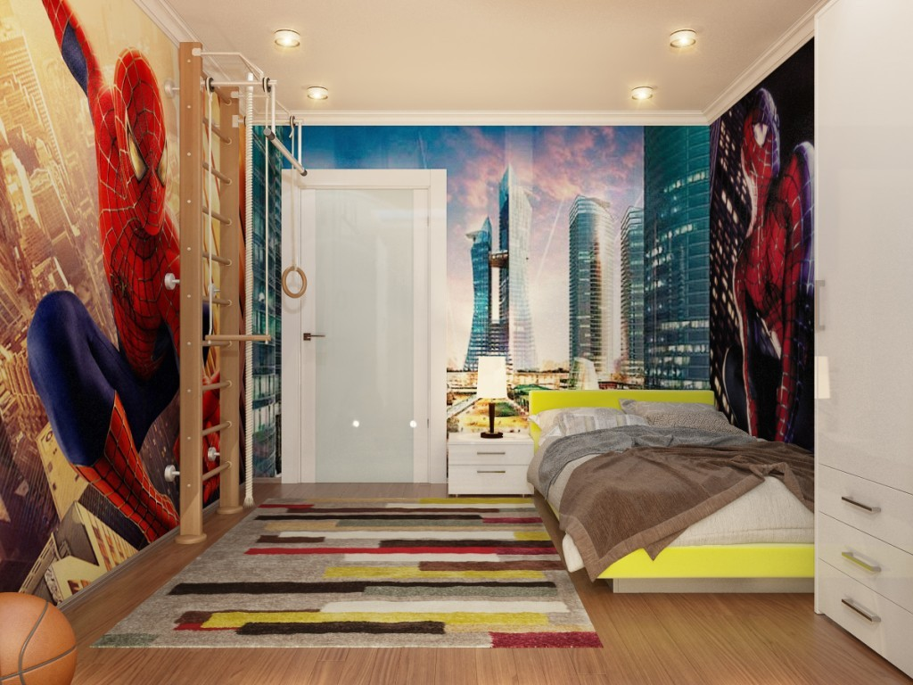 7 desain kamar tidur anak laki-laki tema spiderman - nirwana deco