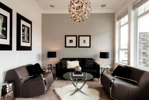 Contoh Wallpaper Dinding Ruang Tamu Sempit
