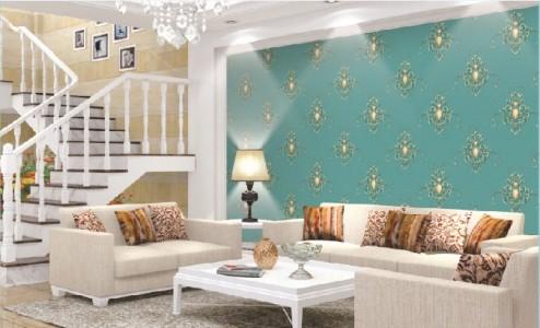 10 Contoh Wallpaper Dinding Ruang Tamu Elegan