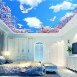 Wallpaper Dinding Kamar Tidur Motif Awan