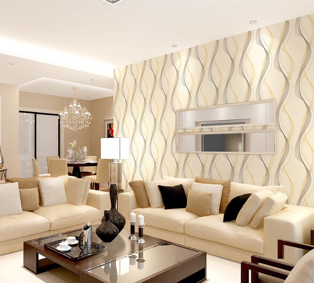 10 Contoh Wallpaper Dinding Ruang Tamu Elegan Nirwana Deco Jogja