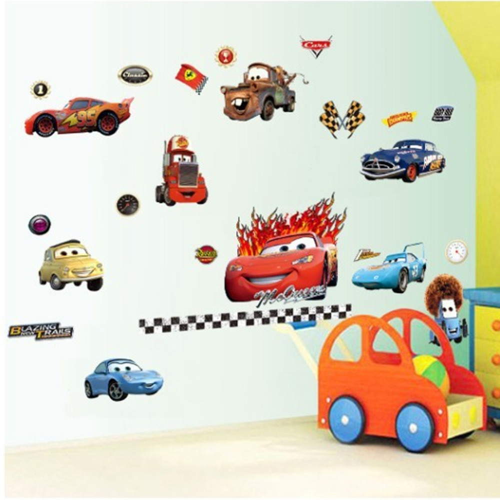 10 Wallpaper Dinding Kamar Anak Motif Cars  Nirwana Deco Jogja