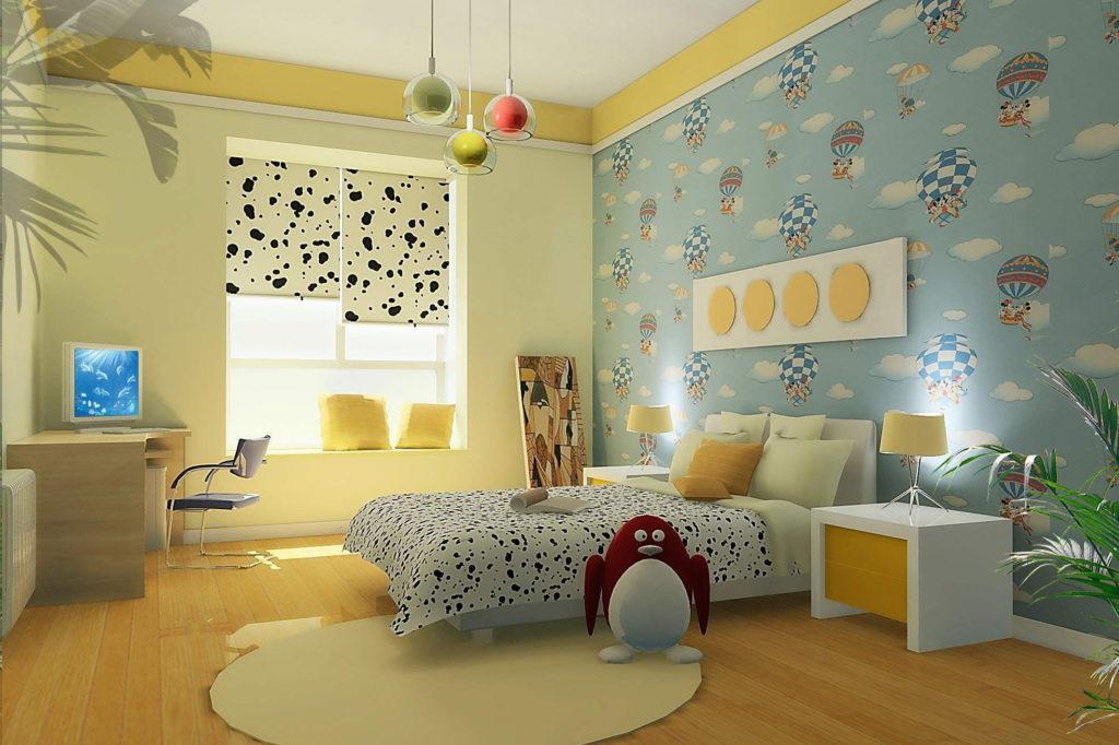 Tips Cara Membuat Wallpaper Kamar Tidur Anak Nirwana