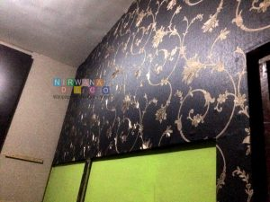 Pemasangan Wallpaper Di Jalan Dewa Ruci, Bantul, Yogyakarta