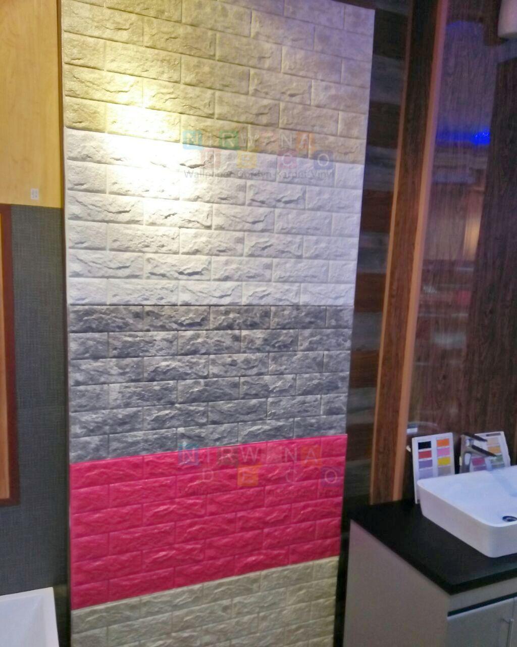 3D Brick Wall Foam Harga Murah Nirwana Deco Jogja
