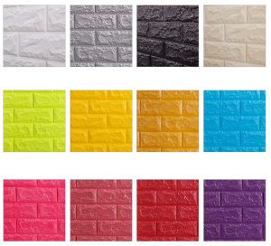 pilihan warna 3d brick wall foam