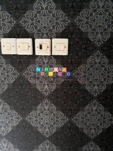 Pemasangan Wallpaper Di Perumahan Sawit Asri Residence, Yogyakarta