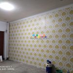 Pemasangan Wallpaper Di Perumahan Pertamina, Yogyakarta