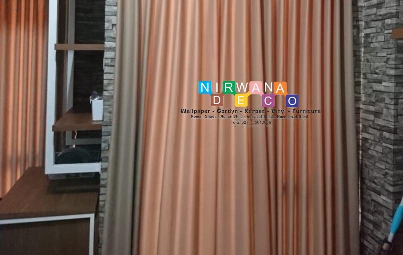 Pemasangan Gorden Di Apartemen Taman Melati, Yogyakarta