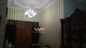 Pemasangan Wallpaper Di Gang Gambuh, Sambiroto, Purwomartani, Kalasan, Sleman, Yogyakarta