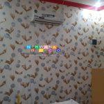 Pemasangan Wallpaper Di Jalan Pandega Sakti, Caturtunggal, Depok, Sleman, Yogyakarta